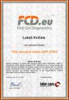 Lukáš Kvíčala - Certifikát