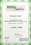 Luděk Kuhn - Certifikát