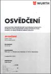 Jiří Bažant - Certifikát
